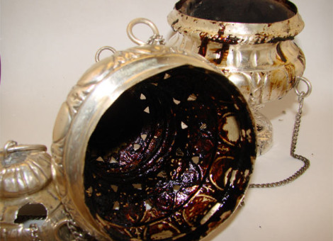 Restauro del turibolo in argento